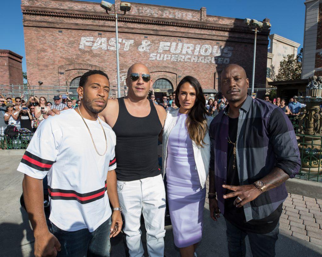 """Chris """"Ludacris"""" Bridges, Vin Diesel, Jordana Brewster and Tyrese Gibson"""