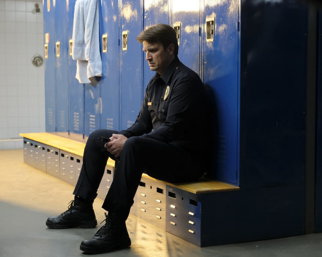 """Nathan Fillion in """"The Rookie"""" (Photo by Tony Rivetti/ABC)"""