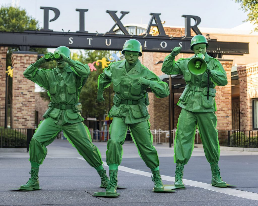 Sarge and the Green Army Men at Toy Story Land (Photo by Matt Stroshane)