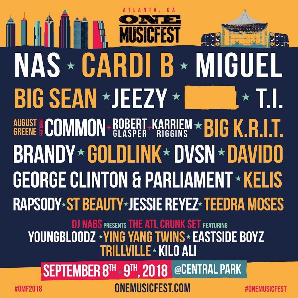 2018 ONE Musicfest Lineup (PRNewsfoto/ONE Musicfest)