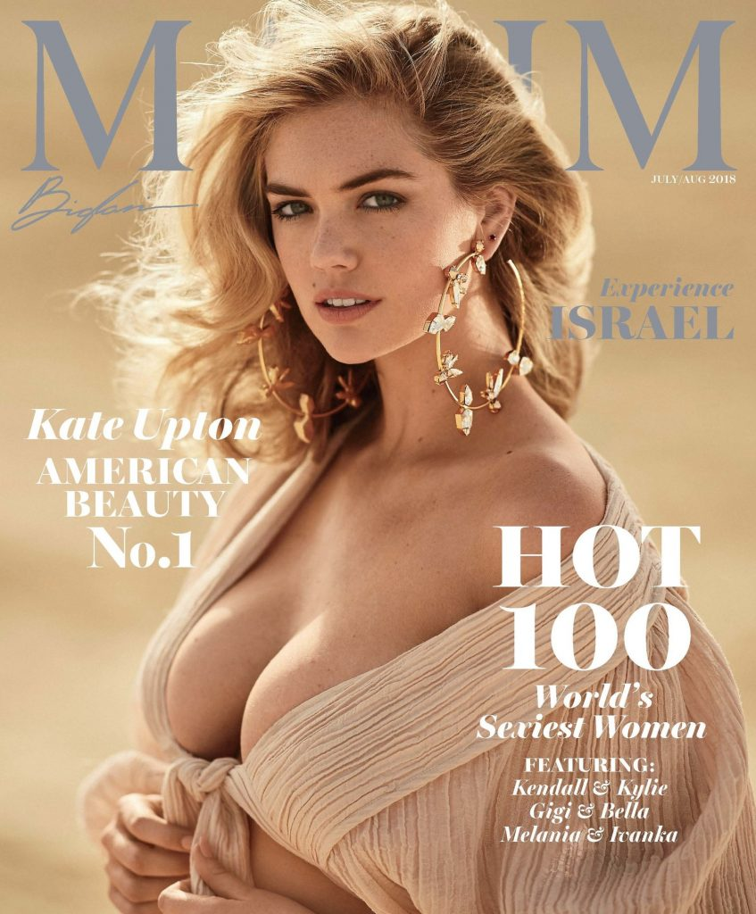 Kate Upton on the cover of Maxim