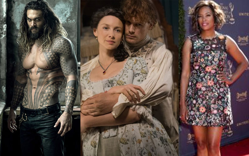 "Jason Momoa; ""Outlander"" stars Caitriona Balfe and Sam Hueghan; Aisha Tyle"