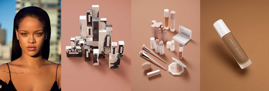 Rihanna and Fenty Beauty products