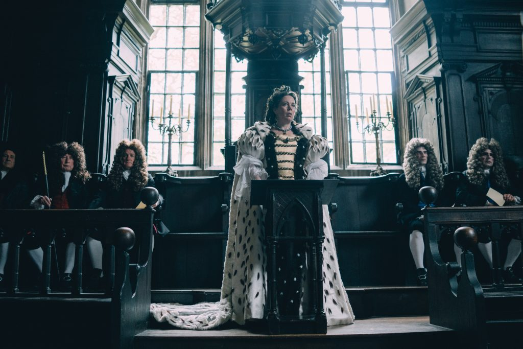 "Olivia Colman in ""The Favourite"""