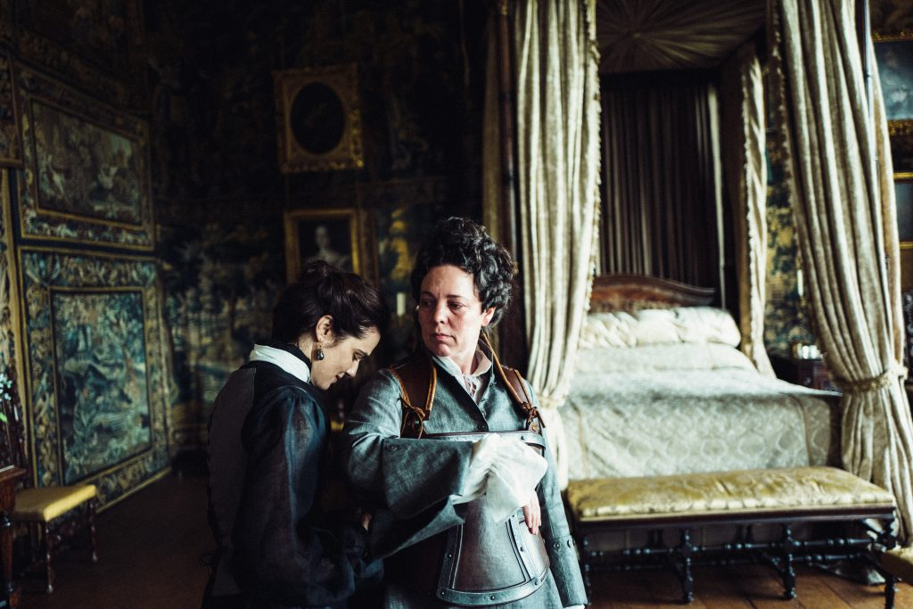 "Rachel Weisz and Olivia Colman in ""The Favourite"""