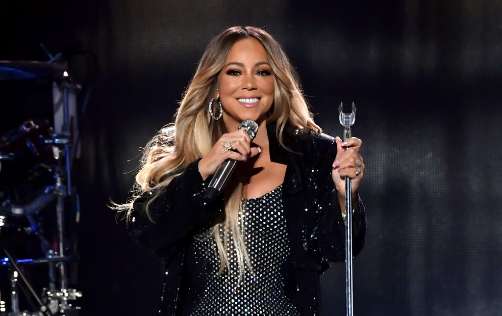 Mariah Carey at the 2018 iHeartRadio Music Festival at T-Mobile Arena in Las Vegas on September 21, 2018.