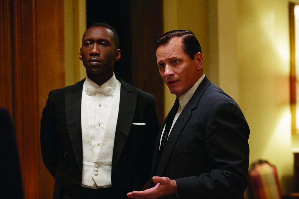 "142ac24d270c39 Mahershala Ali and Viggo Mortensen in ""Green Book"" (Photo by Patti Perret)"
