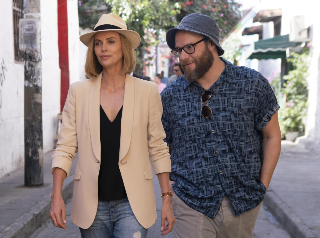 "4f4df0ee07ca4 Charlize Theron and Seth Rogen in ""Long Shot"" (Photo by Hector Alvarez)"
