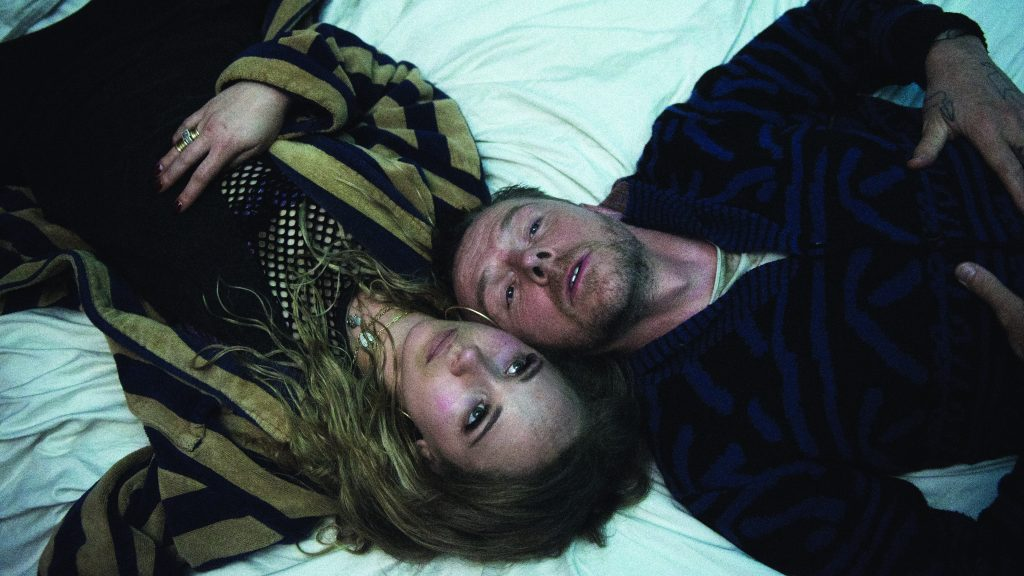 "Juno Temple and Simon Pegg in ""Lost Transmissions"""