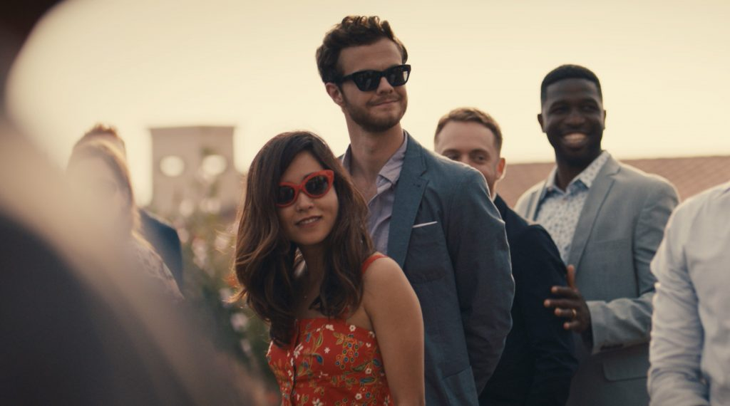 "Maya Erskine and Jack Quaid in ""Plus One"""