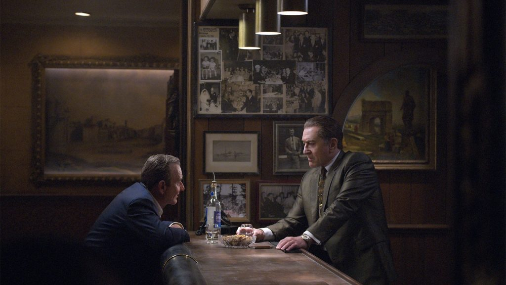 "Joe Pesci and Robert De Niro in ""The Irishman"""