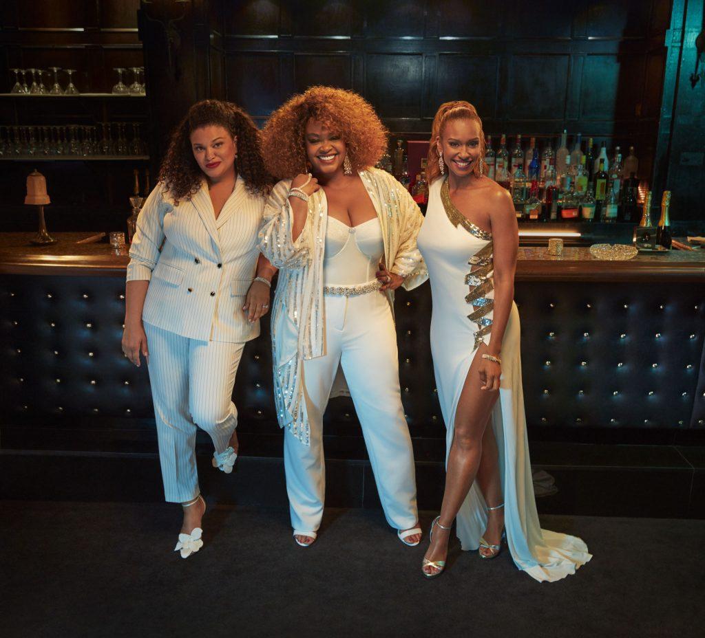 "Michelle Buteau, Jill Scott and Ryan Michelle Bathe in ""First Wives Club"""