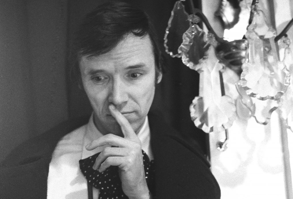 Bill Cunningham at a Patou Collection in Paris in 1970.